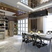110平米简欧风格餐厅室内吊顶装修效果图