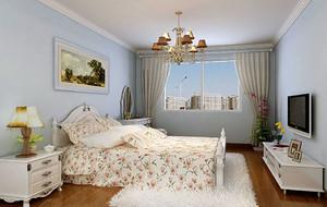 欧式田园风格自然舒适卧室装修效果图