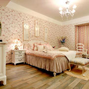时尚卧室背景墙效果图