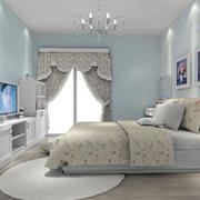时尚碎花卧室效果图