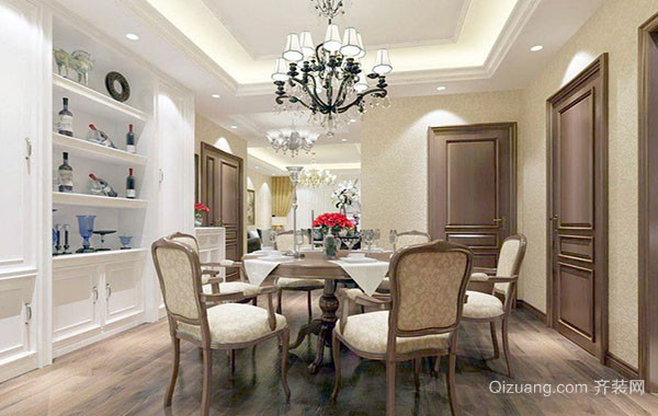 大户型欧式风格精致典雅餐厅装修效果图大全