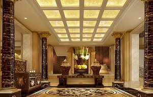 2016别墅型欧式室内玄关设计装修效果图