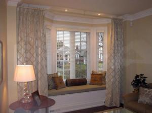 2016欧式大户型室内窗帘设计装修效果图实例