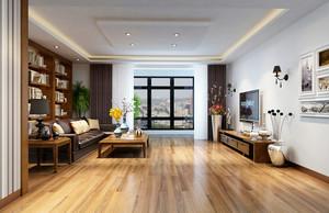 110平米现代简约朴素客厅装修效果图