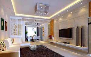 130平米时尚创意客厅餐厅设计效果图