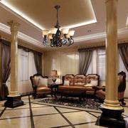 古典欧式风格客厅装修效果图