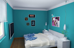 都市轻快时尚简约卧室装修效果图