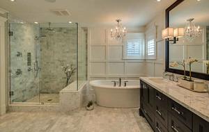 美式简约时尚别墅型卫生间装修效果图