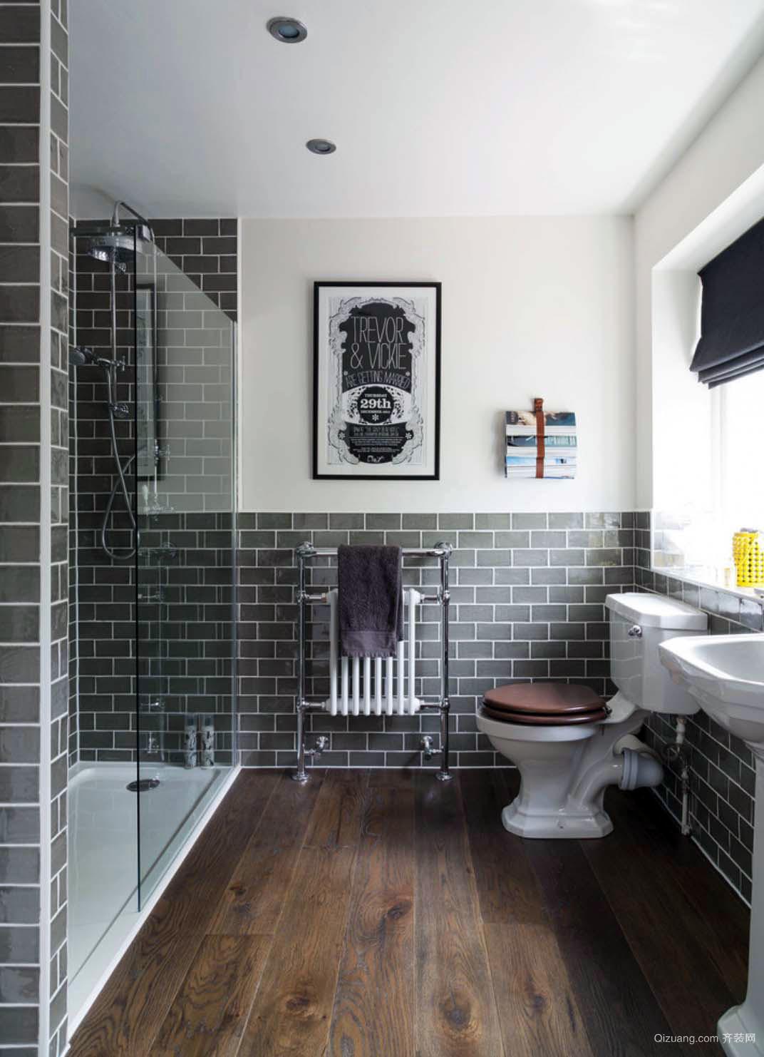 美式风格时尚简约卫生间装修效果图