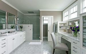 大户型现代美式风格卫生间装修效果图大全