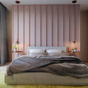 粉色温馨卧室效果图