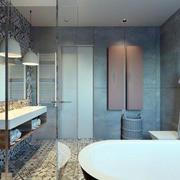 时尚精致卫生间瓷砖设计