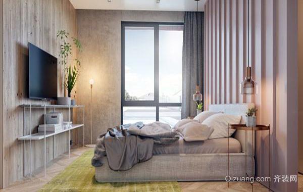 2016年全新款现代简约时尚卧室装修效果图