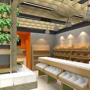 2016精致唯美的水果店室内设计装修效果图