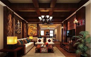 东南亚风格卧室整体效果图