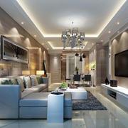 100平米欧式精致的客厅吊顶装修效果图