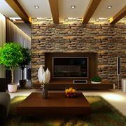 精致简约客厅背景墙装修