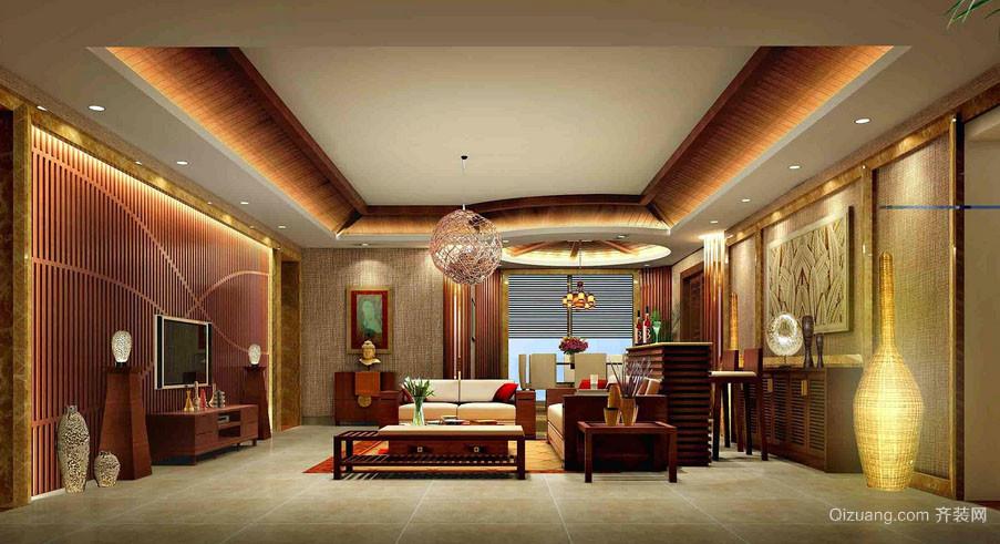 富有民族特色东南亚风格客厅装修效果图