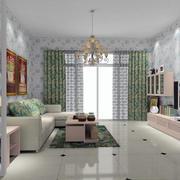 现代田园风格自然舒适客厅装修效果图