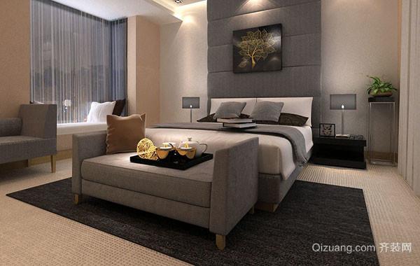 现代简约中性色调卧室装修效果图