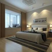 80平米现代简约时尚卧室飘窗装修效果图