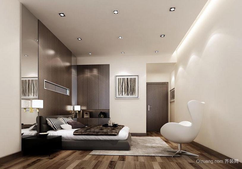 中冷色调简约前卫卧室装修效果图