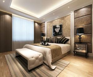 85平米现代简约精致卧室装修效果图