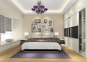 现代极简主义风格时尚卧室装修效果图