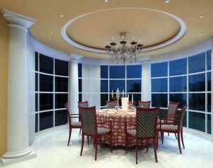 2016大户型精致中式风格餐厅吊顶装修效果图