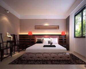2016精致的大户型中式卧室吊顶装修效果图