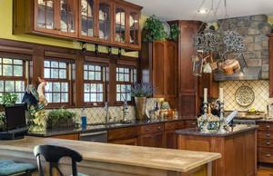 美式风格别墅型精致厨房吊顶装修效果图