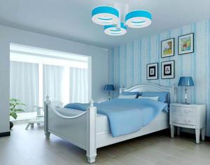别墅型地中海风格卧室背景墙装修效果图