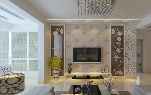 欧式风格大户型电视背景墙装修效果图