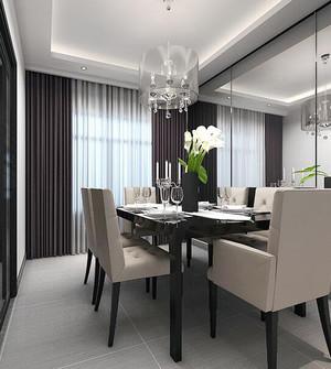 2016别墅型现代简约餐厅室内设计装修效果图