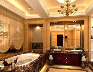 120平米欧式别墅型浴室吊顶装修效果图