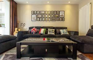 现代美式风格精致客厅背景墙装修效果图