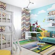 时尚简约轻快儿童房壁纸设计