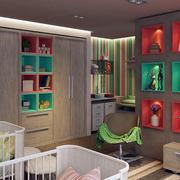 儿童房照片墙效果图