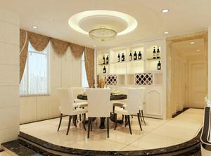 100平米别墅简欧风格餐厅背景墙装修效果图