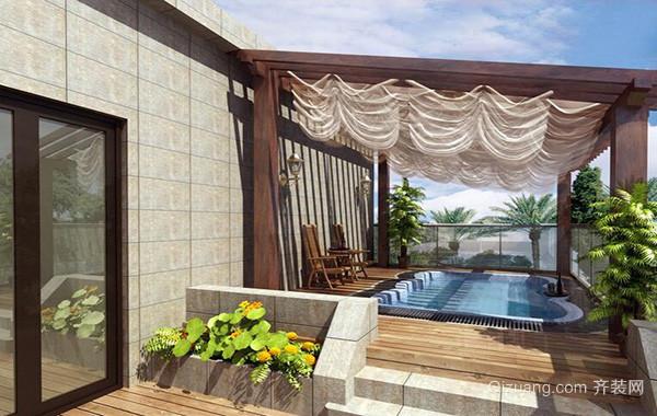2016别墅型欧式风格阳台装修效果图