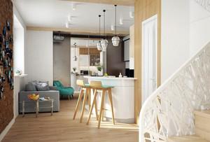 复式小楼时尚简约风格吧台设计效果图