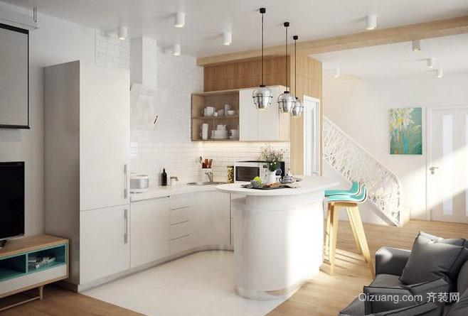 现代都市轻松舒适厨房装修效果图