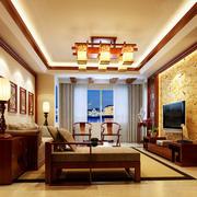 中式客厅吊顶设计