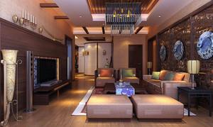 中式风格稳重典雅朴素客厅装修效果图