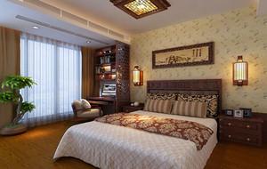 精致典雅卧室背景墙装修