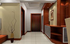 120平米欧式风格别墅室内玄关设计装修效果图