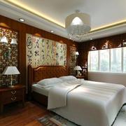 中式屏风卧室背景墙