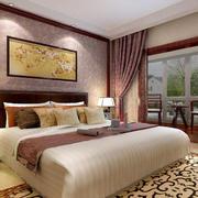 中式风格卧室窗帘效果图