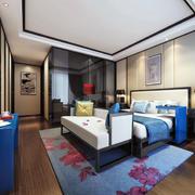 现代时尚卧室效果图