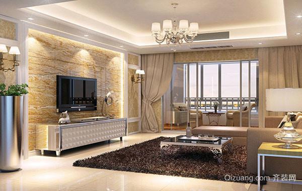 大户型简欧风格时尚客厅装修效果图